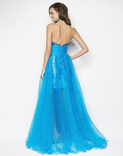Style 9544 Blush Prom Blue Size 2 Pageant Sequin Ball gown on Queenly