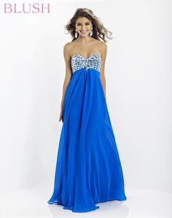 Style 9799 Blush Prom Blue Size 0 Pageant Tall Height Straight Dress on Queenly