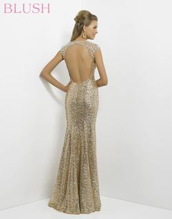 Style 9768 Blush Prom Gold Size 6 Pageant Tall Height Mermaid Dress on Queenly