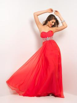 Style 9509 Blush Prom Orange Size 8 Prom Silver Mermaid Dress on Queenly