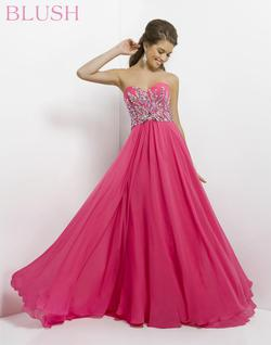 Style 9710 Blush Prom Pink Size 16 Jewelled Tall Height A-line Dress on Queenly
