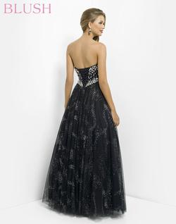 Style 5330 Blush Prom Black Size 0 Silver Tall Height Lace A-line Dress on Queenly