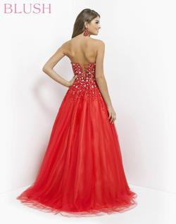 Style 5316 Blush Prom Red Size 8 Jewelled Quinceanera Tall Height Ball gown on Queenly