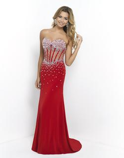 Style 9963 Blush Prom Red Size 0 Quinceanera Sheer Mermaid Dress on Queenly