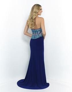Style 9961 Blush Prom Blue Size 2 Sequin Jersey Silk Side slit Dress on Queenly
