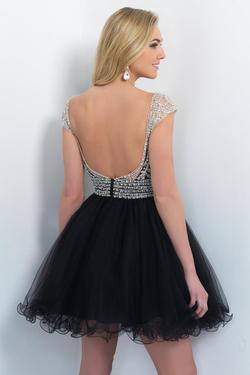 Style 10062 Blush Prom Black Size 10 Sequin Cocktail Dress on Queenly