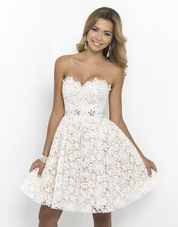 Style 9900 Blush Prom White Size 4 Mini Sequin Silk Cocktail Dress on Queenly