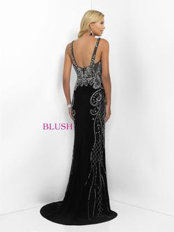 Style 11114 Blush Prom Black Size 2 Pageant Tall Height Straight Dress on Queenly
