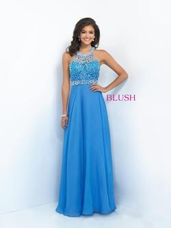 Style 11059 Blush Prom Blue Size 4 Tall Height Prom A-line Dress on Queenly