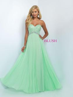 Style 11050 Blush Prom Green Size 2 Tall Height A-line Dress on Queenly