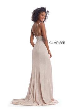Style 8009 Clarisse Light Pink Size 2 Side slit Dress on Queenly