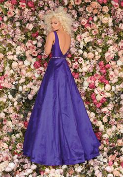 Style 8194 Clarisse Purple Size 4 Prom Pockets Ball gown on Queenly