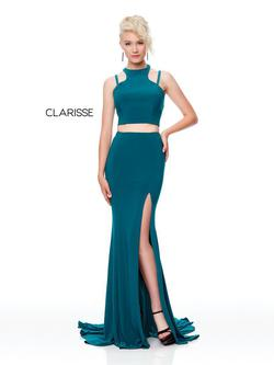 Style 3761 Clarisse Green Size 2 Side slit Dress on Queenly