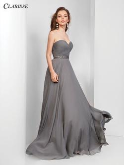Style 3428 Clarisse Blue Size 4 Sorority Formal Tall Height Wedding Guest Straight Dress on Queenly
