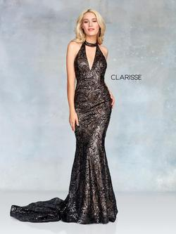 Style 3721 Clarisse Black Size 14 Prom Pageant Sequin Mermaid Dress on Queenly