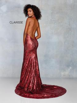 Style 3721 Clarisse Red Size 12 Burgundy Halter Pageant Plus Size Mermaid Dress on Queenly