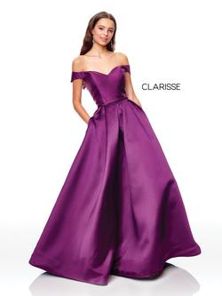 Style 3442 Clarisse Purple Size 8 Corset Pockets Ball gown on Queenly