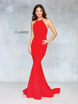 Style 3831 Clarisse Red Size 6 Sorority Formal Jersey Mermaid Dress on Queenly
