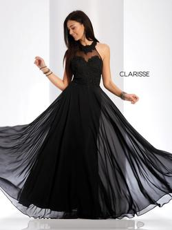 Style 3528 Clarisse Black Size 10 Prom Sorority Formal A-line Dress on Queenly