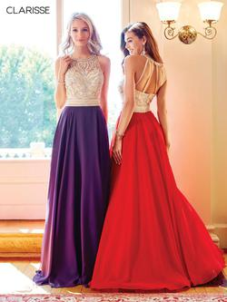 Style 3465 Clarisse Purple Size 10 Prom A-line Dress on Queenly