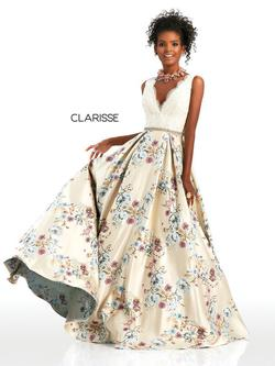 Style 4973 Clarisse Multicolor Size 6 Prom Ball gown on Queenly
