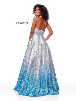 Style 3820 Clarisse Silver Size 0 Pageant Prom Ball gown on Queenly