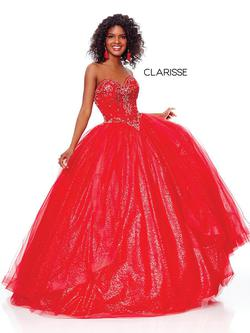 Style 3811 Clarisse Red Size 6 Prom Ball gown on Queenly