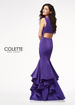 Style CL21718 Mon Cheri Purple Size 14 Plus Size Mermaid Dress on Queenly