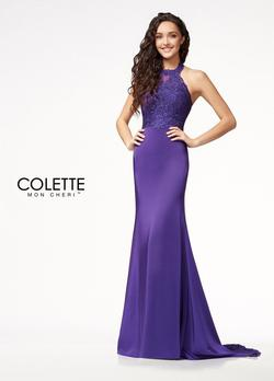 Style CL18224 Mon Cheri Purple Size 2 Tall Height Wedding Guest Mermaid Dress on Queenly