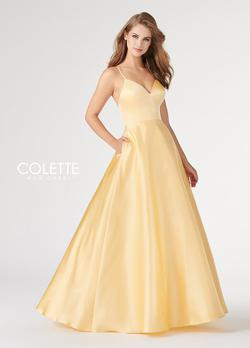 Style CL19837 Mon Cheri Yellow Size 4 Bridesmaid Prom Ball gown on Queenly