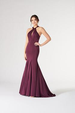 Style CL19809 Mon Cheri Purple Size 8 Tall Height Wedding Guest Mermaid Dress on Queenly