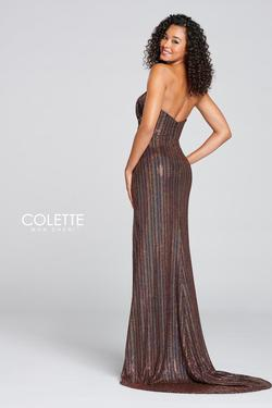 Style CL12114 Mon Cheri Multicolor Size 8 Pageant Tall Height Side slit Dress on Queenly