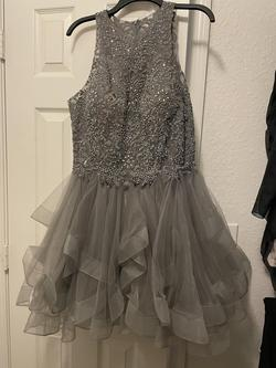 Silver Size 12 Cocktail Dress on Queenly