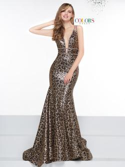 Style 2116 Colors Multicolor Size 10 Tall Height Mermaid Dress on Queenly