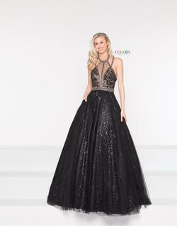 Style 2008 Colors Black Size 4 Halter Tall Height Ball gown on Queenly