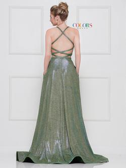 Style 2088 Colors Green Size 2 Side slit Dress on Queenly