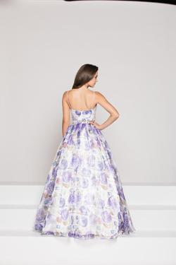 Style 1826 Colors Purple Size 6 Print Two Piece A-line Dress on Queenly