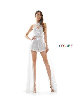 Style 2346 Colors White Size 2 Prom Fun Fashion Pageant Jumpsuit Dress on Queenly