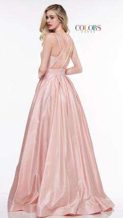 Style 2062 Colors Pink Size 2 Tall Height Side slit Dress on Queenly