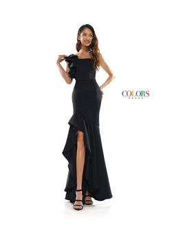 Style 2341 Colors Black Size 10 Sorority Formal Tall Height Wedding Guest Side slit Dress on Queenly