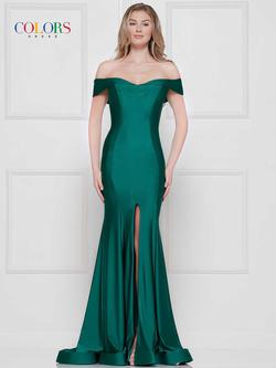Style 2107 Colors Green Size 16 Plus Size Side slit Dress on Queenly