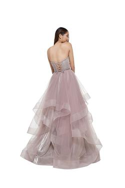 Style 2279 Colors Nude Size 6 Sheer Ruffles Pageant Ball gown on Queenly