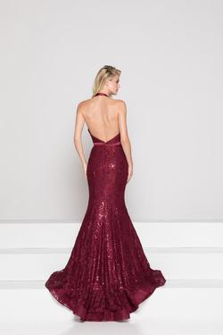 Style 1848 Colors Red Size 4 Burgundy Halter Mermaid Dress on Queenly