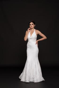 Style 1848 Colors White Size 8 Prom Wedding Sorority Formal Mermaid Dress on Queenly