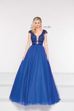 Style 2007 Colors Blue Size 14 Tall Height Ball gown on Queenly
