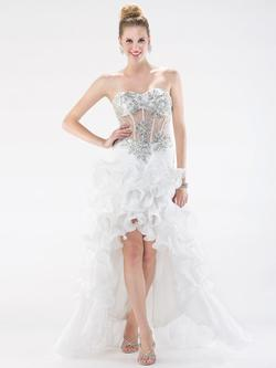 Style 1016 Colors White Size 12 Ruffles Pageant Fun Fashion Ball gown on Queenly