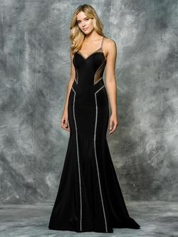 Style 1666 Colors Black Size 2 Sorority Formal Tall Height Wedding Guest Mermaid Dress on Queenly