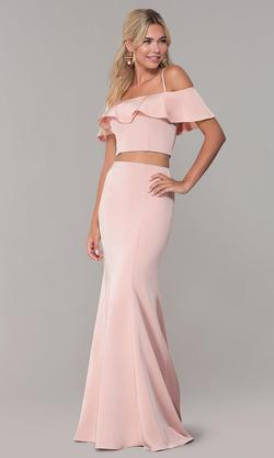 Style 3416 Dave & Johnny Pink Size 6 Sorority Formal Tall Height Wedding Guest Mermaid Dress on Queenly