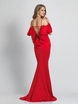 Style A7327 Dave & Johnny Red Size 6 Sorority Formal Tall Height Mermaid Dress on Queenly
