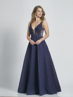 Style A7995 Dave & Johnny Blue Size 4 Tall Height Ball gown on Queenly